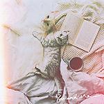 99px.ru аватар Полосатый котенок и белая кошка лежат на кровати