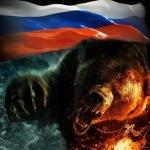 99px.ru аватар Злой медведь на фоне флага России