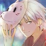 Аватар Гин / Gin с маской на голове из аниме В лесу мерцания светлячков / Hotarubi no Mori e