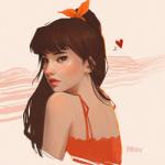 99px.ru аватар Девушка с бабочкой на волосах