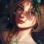 99px.ru аватар Девушка с бабочками, by RaidesArt