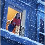 Девушка в открытом окне