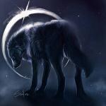 99px.ru аватар Волк на фоне светящегося ореола, by Safiru