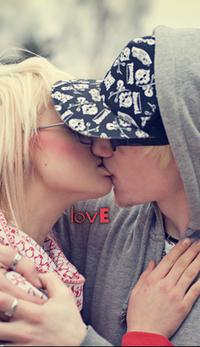 Обои Поцелуй, любовь, love