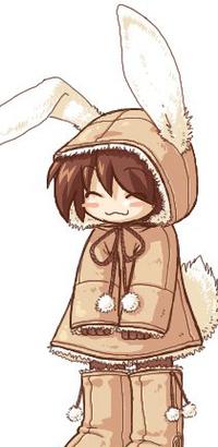 Обои Маленький мальчик в костюме зайчика