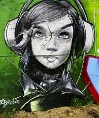 Обои Девушка (рисунок граффити)