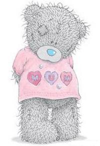Обои Мишка Тедди в розовой майке