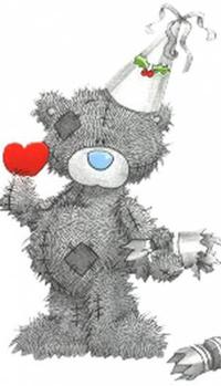 Обои Праздничный мишка Тедди