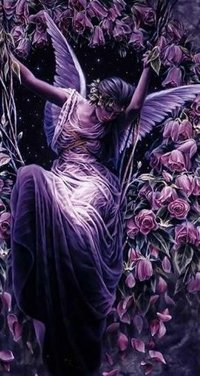Обои Ангел в розах