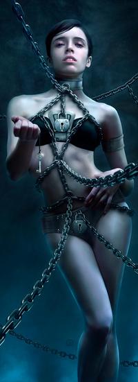 Аватар вконтакте Девушка в цепях, ключ от всех дверей