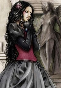 Обои мрачная девушка