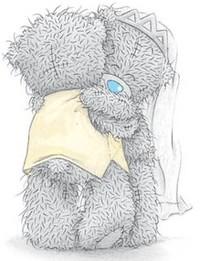 Обои Медвежата обнимаются