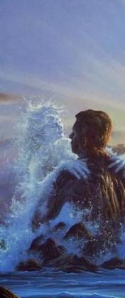 Обои Девушка из морской воды обнимает живого мужчину