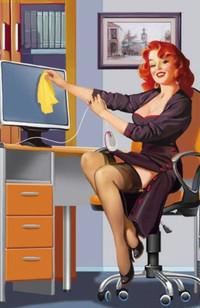 Обои Секспильная секретарша