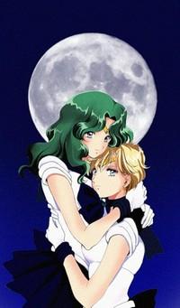 Обои Арт Сейлор Нептун и Сейлор Уран / Sailor Neptune & Sailor Uranus из аниме Сейлор Мун / Sailor Moon