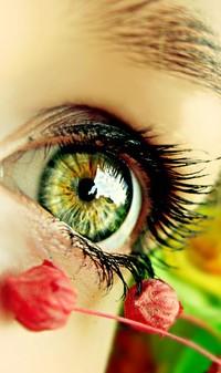 Обои глаз,цветок