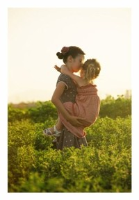 Аватар вконтакте мама с ребенком в поле