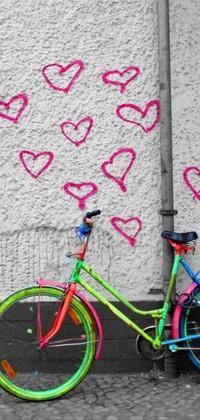 Обои разноцветный велосипед