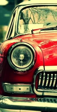Обои retro red car