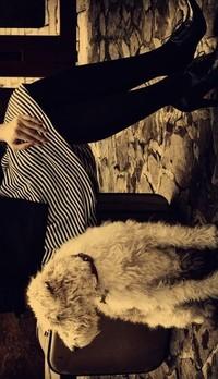 Аватар вконтакте девушка сидит на чемодане,собака
