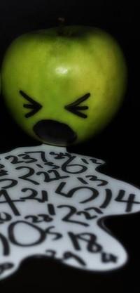 Обои яблоко,цыфры
