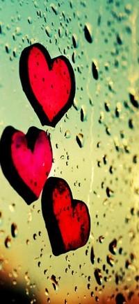 Аватар вконтакте сердечки на стекле
