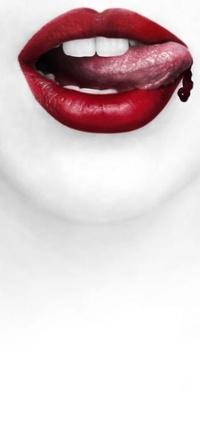 Обои губы
