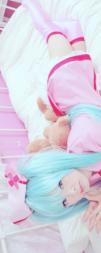 Обои Косплей Вокалоид Мику Хатсуне / Vocaloid Hatsune Miku