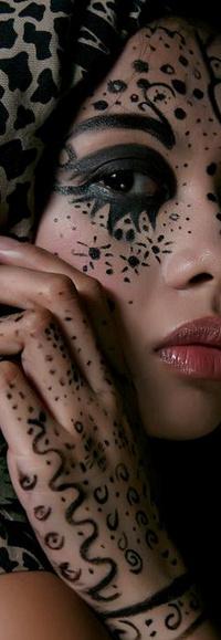 Аватар вконтакте разрисованное лицо девушки
