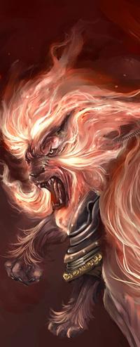 Аватар вконтакте лев с огненной гривой