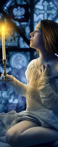 Аватар вконтакте Девушка со свечей.