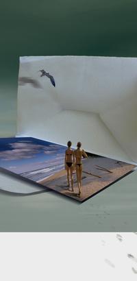 Аватар вконтакте Воспоминания об отдыхе, фотография в конверте