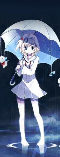 99px.ru аватар Девушка с зонтом стоит в луже