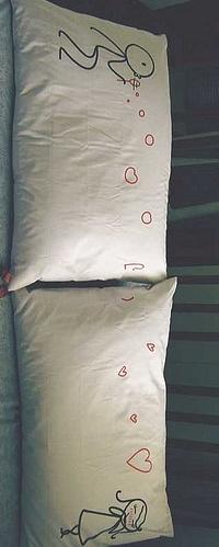 Обои рисунок на подушке