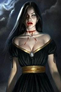 Рисунки вампирши фото