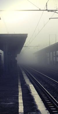 Обои Туманный вокзал