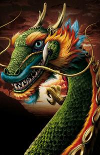Аватар вконтакте Разноцветный дракон