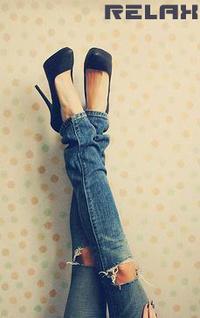 Баба ноги вверх