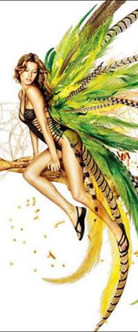 Обои Девушка - райская птица