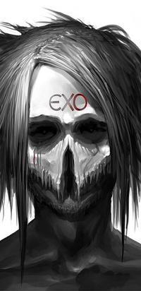 99px.ru аватар Черепушка с волосами exo