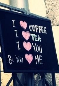 Аватар вконтакте Меню: I love coffee, I love tea, I love you and You love me.