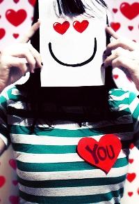 Аватар вконтакте Влюбленная девушка (сердце с надписью You)