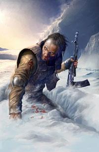 Аватар вконтакте Раненый боец пробирается сквозь глубокий снег...