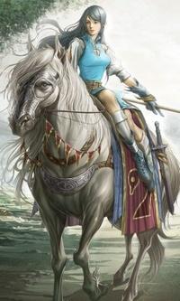 Аватар вконтакте Девушка на коне