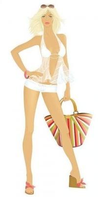 99px.ru аватар Девушка с сумкой в руках на белом фоне.
