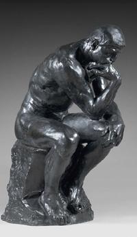 Обои 'Мыслитель' -  одна из самых известных скульптурных работ Огюста Родена