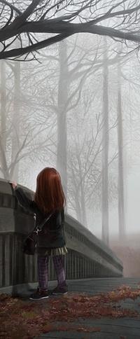 Аватар вконтакте Одинокая девочка в осеннем парке