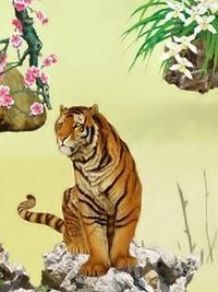 Обои Тигр на камне
