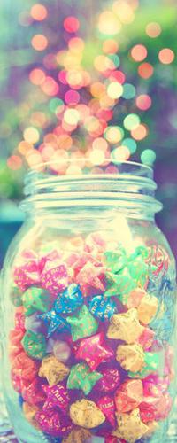 Аватар вконтакте Баночка с разноцветными звёздочками