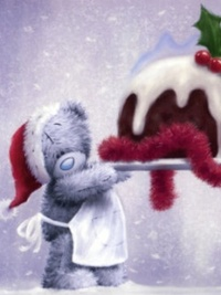 Аватар вконтакте Мишка Teddy приготовил праздничный торт